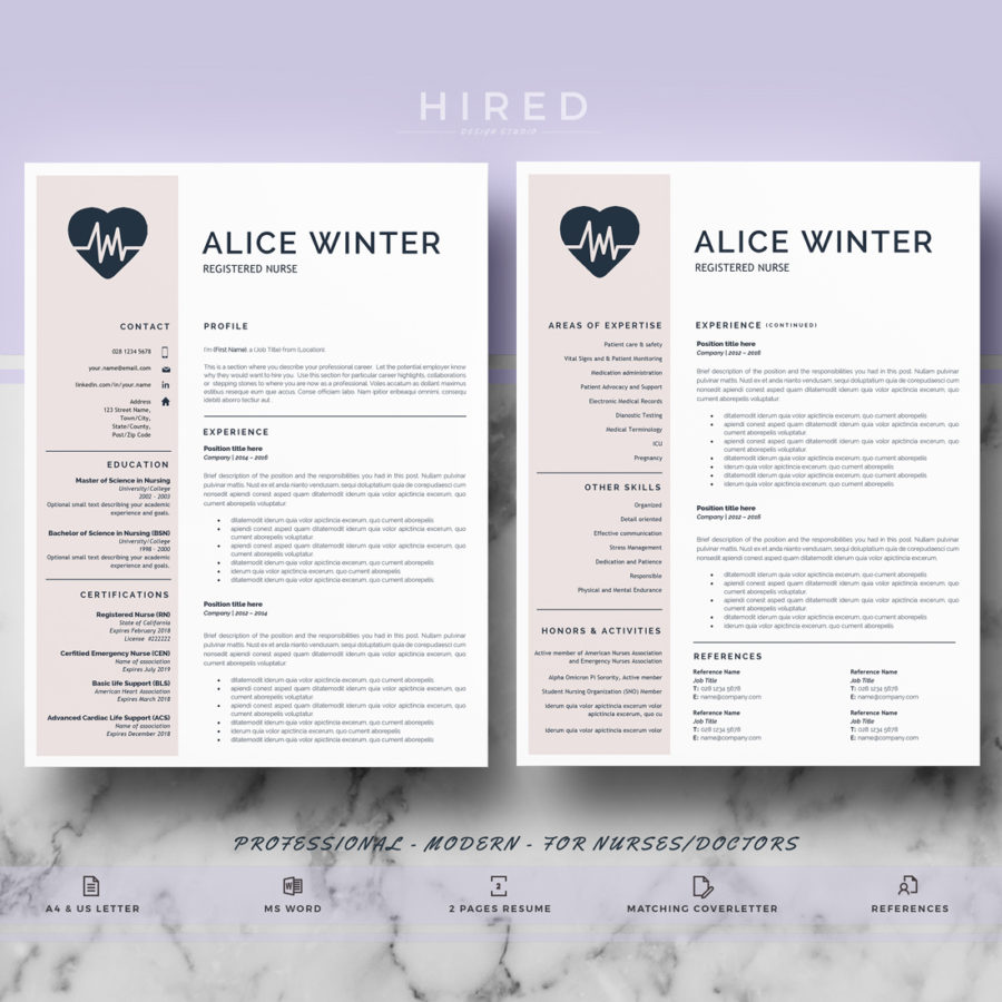 nurse resume archivos - Hired Design Studio