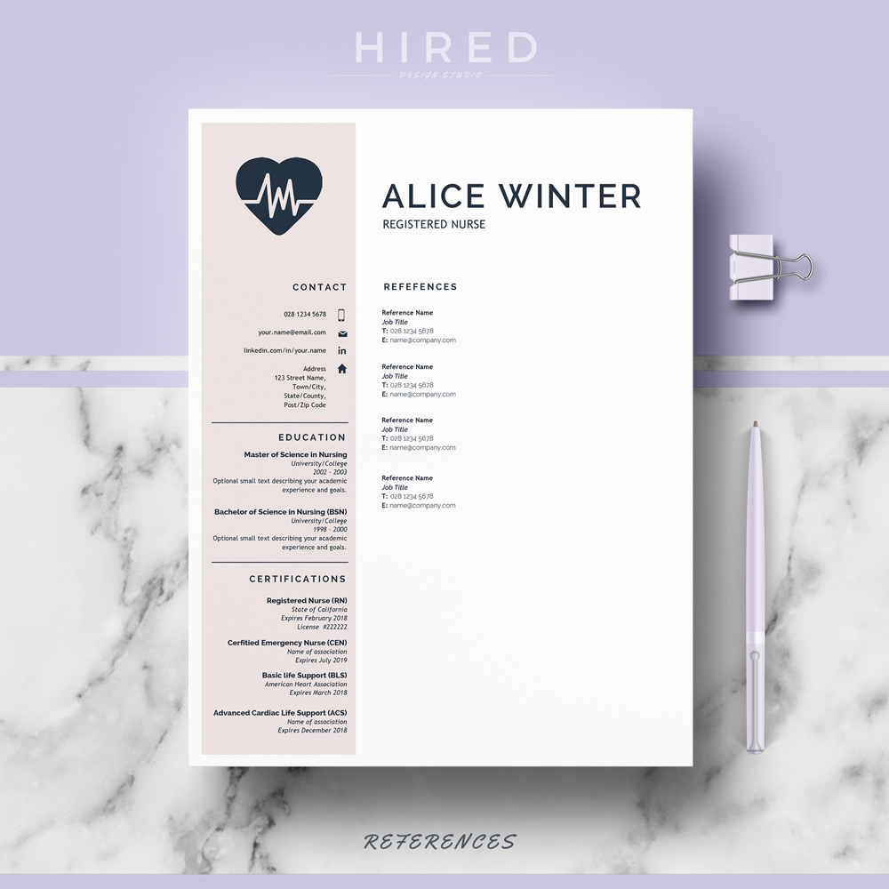 Medical Resume Template Quick View
