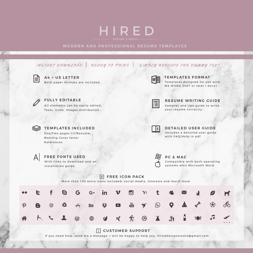 resume format for ms