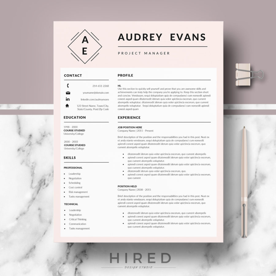professional  u0026 creative resume template for ms word