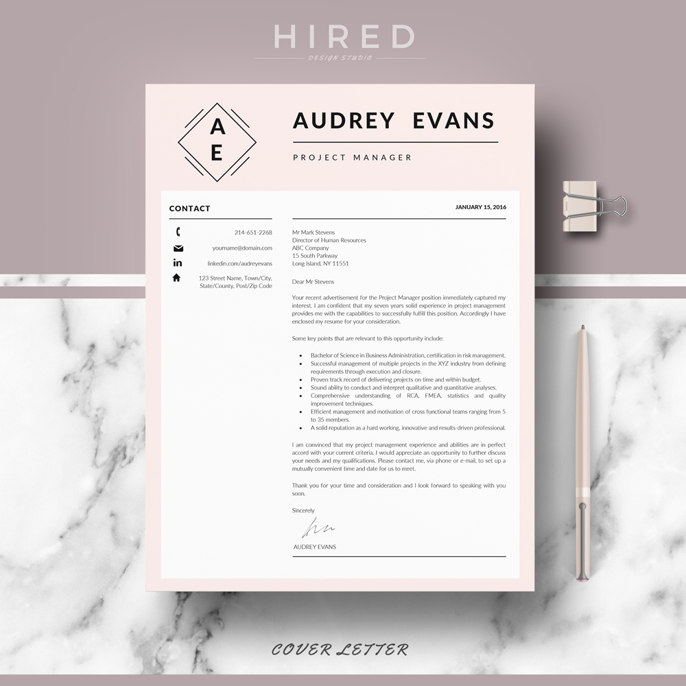 Creative resume template Archives - Hired Design Studio