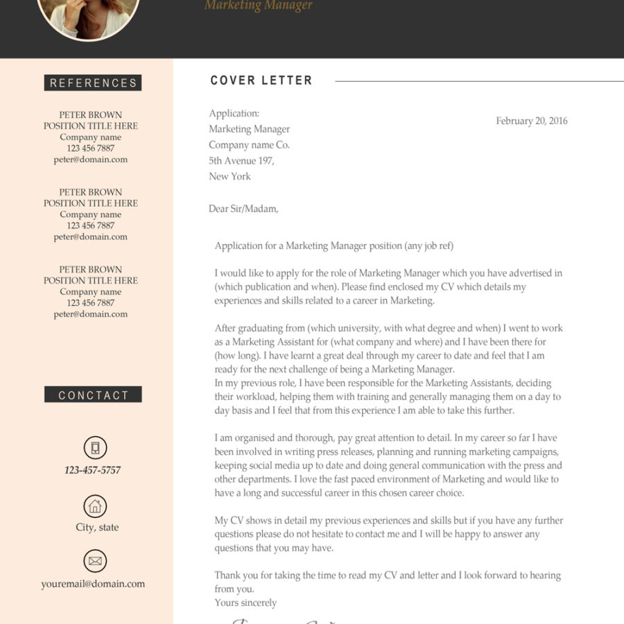 """Professional & Modern Resume Template for MS Word: """"Jessica"""""""