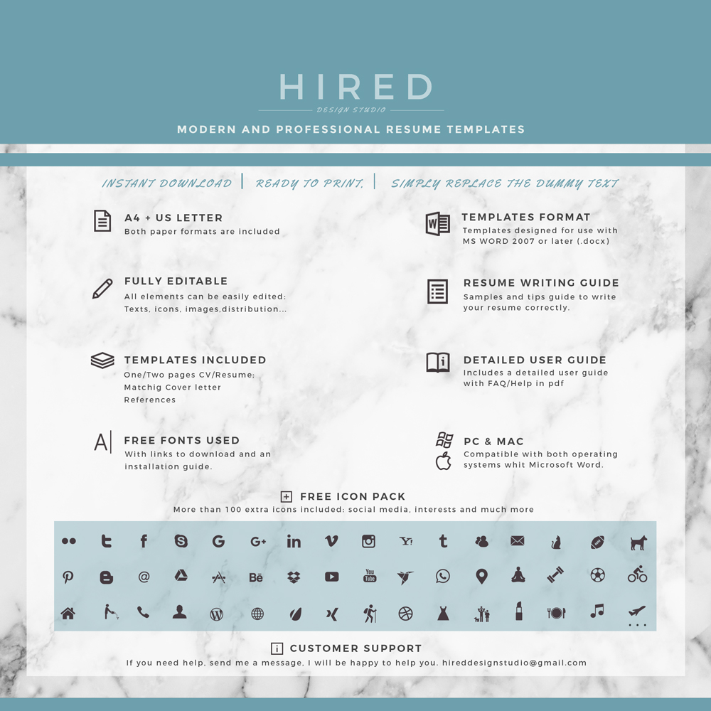 Medical resume template Archives Hired Design Studio