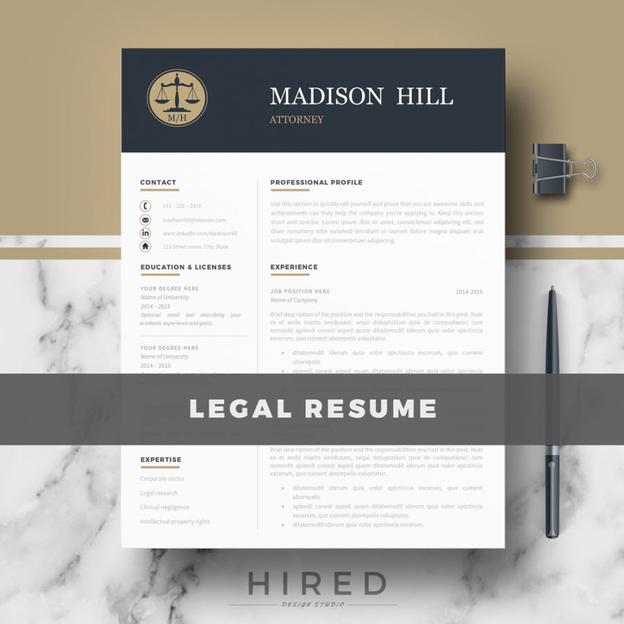 legal resume template for ms word   u0026quot madison u0026quot