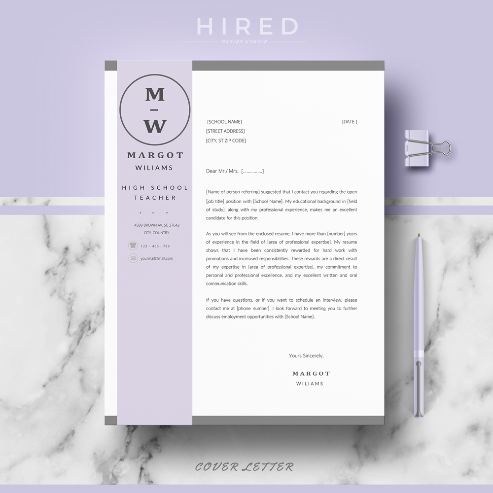 Teacher Resume Template Archives - Hired Design Studio