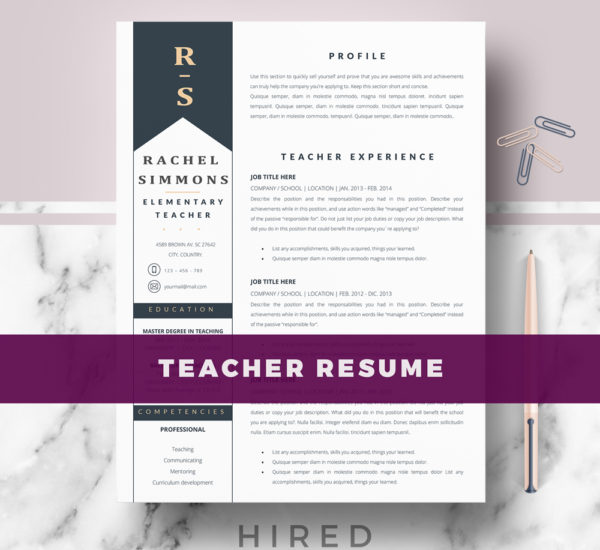 teacher resume template word doc english format hindi samples in