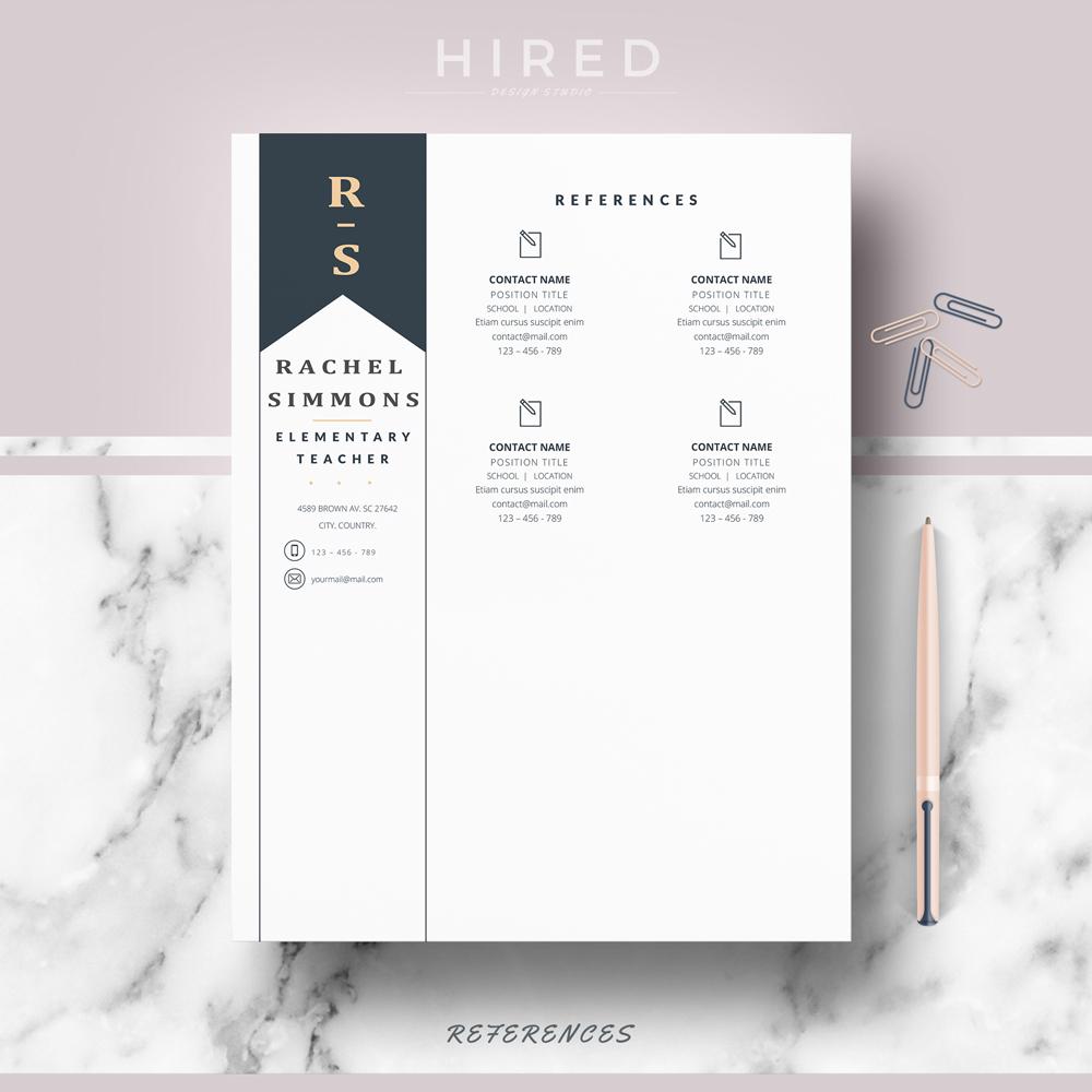 teacher resume template archives hired design studio