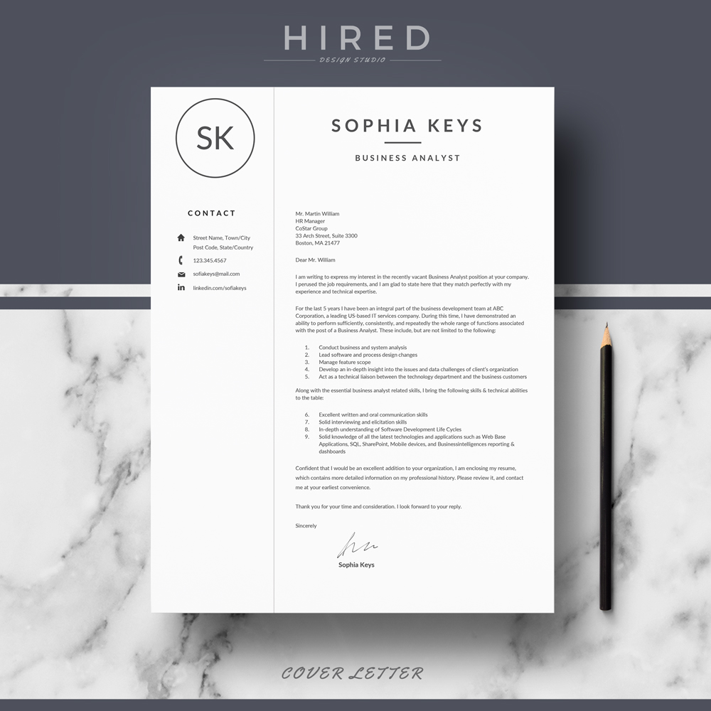 professional resume template archives hired design studio