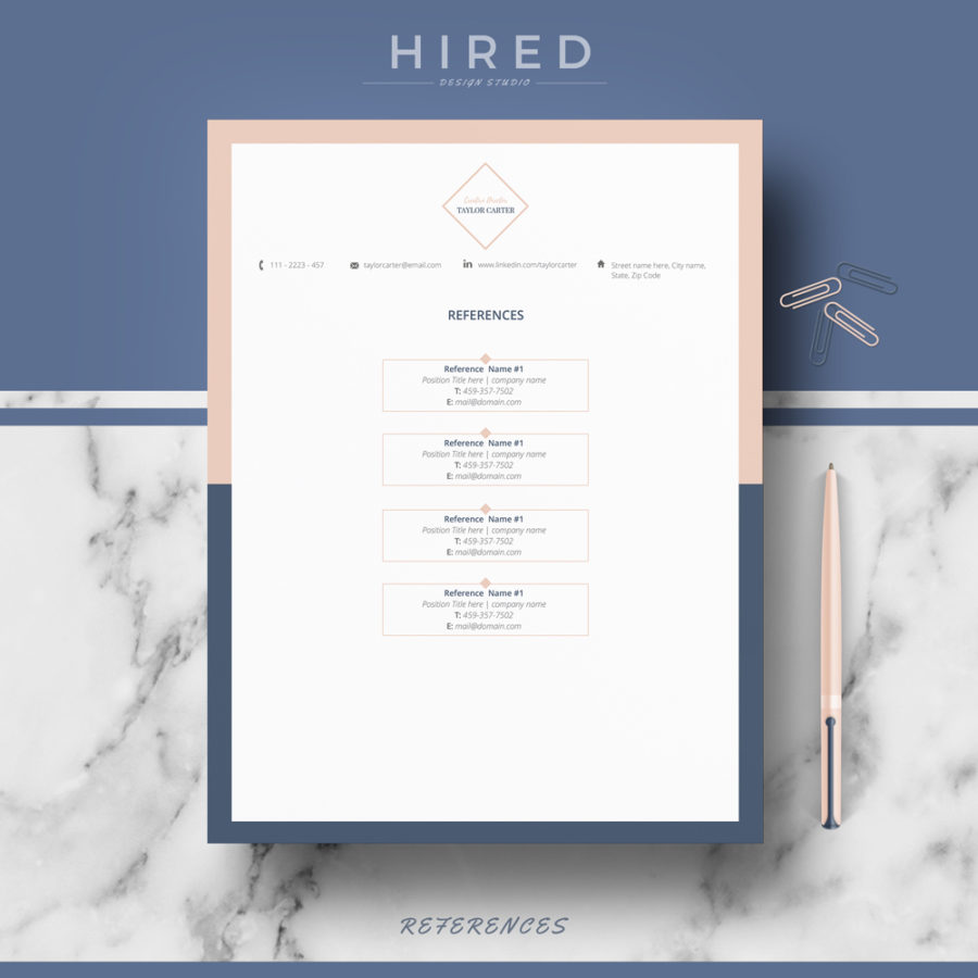 "Creative Resume Template for MS Word: ""Taylor"""